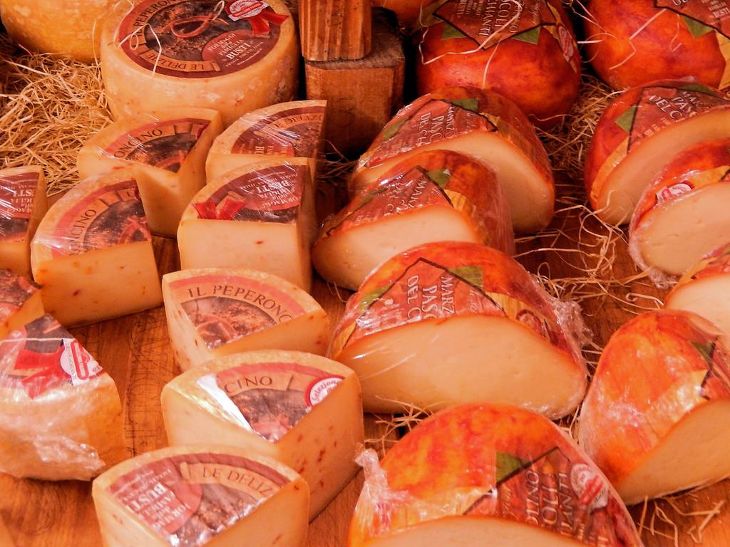 Cheeses at Falorni