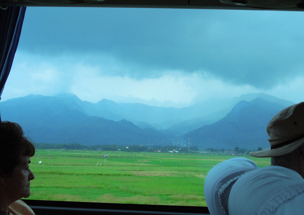View from a bus window
